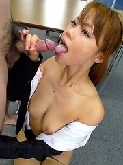 Horny Saki gets two amazing cocks